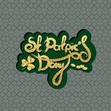 Bokstäver för dag för St Patrick ` s Ferieklistermärke Arkivfoto