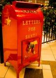Bokstäver för en ` för jultomten`-brevlåda Royaltyfri Bild
