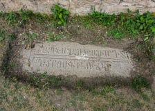 Bokstäver för Goris Khndzoresk kyrkagravar royaltyfri bild