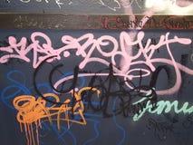 Bokstäver för grafittikonstdriftstopp Royaltyfri Fotografi