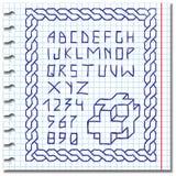 bokstäver för hand för alfabetteckningsH till Royaltyfri Fotografi