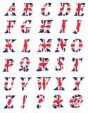 bokstäver för samling 3d uk Royaltyfri Bild