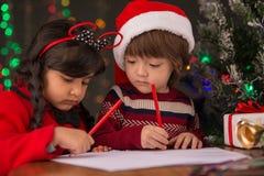Bokstäver för Santa Claus Fotografering för Bildbyråer