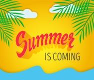 Bokstäver för sommar för vektorhand skriftlig Royaltyfri Fotografi