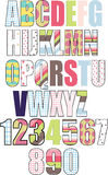 bokstäver mönstrad set Arkivfoton