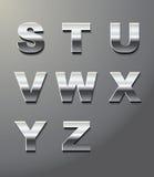 bokstäver metal blankt Arkivfoto