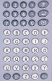 Bokstäver och nummerabstrakt begrepp Arkivfoto
