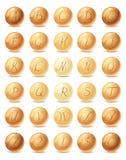 Bokstäver på pärlor Royaltyfri Bild