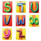 bokstäver s z Arkivbild