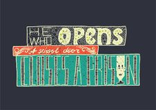 bokstäver Typografiaffisch ägget för designen för bakgrundsblackclosen stekte upp pannaskjorta t Vektoruttryck vektor illustrationer