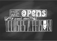 bokstäver Typografiaffisch ägget för designen för bakgrundsblackclosen stekte upp pannaskjorta t Vektoruttryck på svart bräde royaltyfri illustrationer