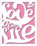 Bokstäveraffisch-förälskelse av min life_2 Arkivbild