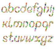 Bokstäverna av det engelska alfabetet Royaltyfri Foto