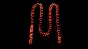 bokstav av M, svart bakgrund för isolat Fotografering för Bildbyråer
