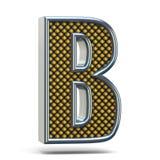 Bokstav B 3D för stilsort för Chrome metall apelsin prucken Arkivbild
