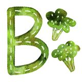 Bokstav b för engelskt alfabet royaltyfri illustrationer