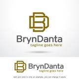 Bokstav B och D Logo Template Design Vector Stock Illustrationer
