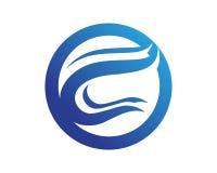 Bokstav C Logo Template Design Vector Arkivfoto