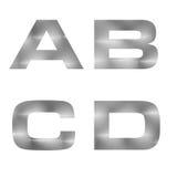 bokstav 3D i bakgrund för silvermetalltextur Royaltyfri Bild