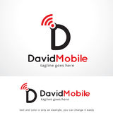 Bokstav D mobila Logo Template Design Vector, emblem, designbegrepp, idérikt symbol, symbol Arkivfoton