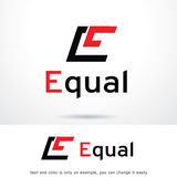 Bokstav E Logo Template Design Vector Royaltyfri Illustrationer