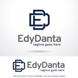 Bokstav E och D Logo Template Design Vector Royaltyfri Illustrationer