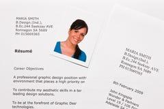 bokstav för applikationcv-engelska Royaltyfri Fotografi