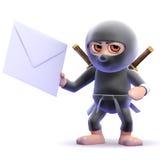 bokstav för 3d Ninja Fotografering för Bildbyråer