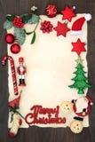 Bokstav för glad jul till jultomten arkivfoton