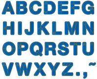 Bokstav för jeansalfabet Arkivbild