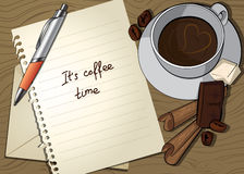 bokstav för kaffekopp Arkivfoto