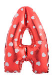 Bokstav A för röd färg gjorde av den uppblåsbara ballongen Royaltyfri Fotografi