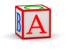 bokstav för kub 3d Royaltyfri Fotografi