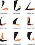 Bokstav L logo vektor illustrationer