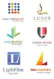 Bokstav L logo Royaltyfria Bilder