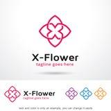 Bokstav X Logo Template Design Vector Stock Illustrationer