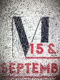 Bokstav M fotografering för bildbyråer