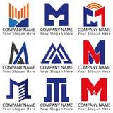 Bokstav M Concept Logo Arkivbilder