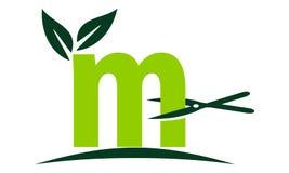 Bokstav M Lawn stock illustrationer
