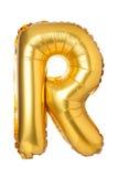 bokstav R från engelskt alfabet av ballonger royaltyfri foto