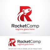 Bokstav R Rocket Logo Template Design Vector Vektor Illustrationer