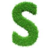 Bokstav S för grönt gräs Royaltyfri Bild