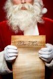 Bokstav till jultomten Royaltyfria Foton
