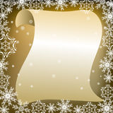 Bokstav till Santa Claus Royaltyfri Bild