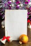 Bokstav till Santa Claus Arkivbild