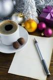 Bokstav till Santa Claus Royaltyfri Fotografi
