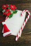 Bokstav till Santa Claus Arkivfoto