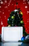 Bokstav till Santa Claus på en minnestavla Arkivfoto
