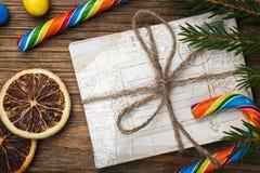 Bokstav till Santa Claus på nytt år Arkivfoton