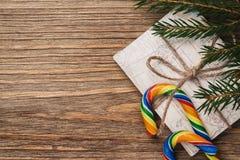 Bokstav till Santa Claus på nytt år med utrymme för text Royaltyfria Foton